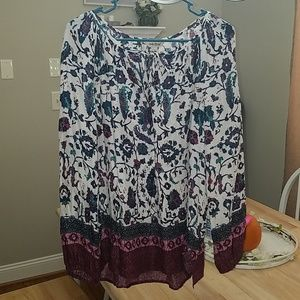 Lucky Brand boho tunic women's large